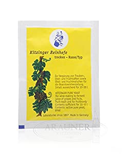 Kitzinger - Levadura seca para uvas y frutas (5 g, capacidad de hasta 10-50 L)