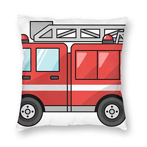 GOSMAO Copricuscini e federe Red Vigile del Fuoco Auto Cuscino Quadrato Federa Copri Cuscino in Polyester Ideale Come Decorazione per Divano e Auto 45 * 45cm