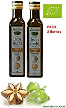 Aceite de SACHA INCHI, BIO, 93% omega 3-6-9 vegetal. Pack de 2 Botellas de 250 mL
