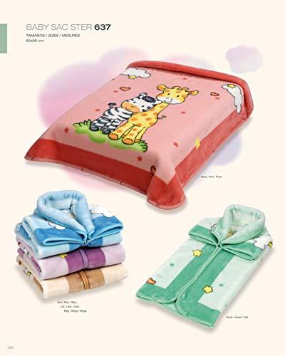 Belpla® - Manta para bebé (80 x 90 cm), color rosa