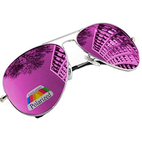 MFAZ Morefaz Ltd Herren Damen Lila Sonnenbrille Klassische Pilotenbrille Polarisierten Gespiegelt Pilot Mehrfarbig (Purple Gespiegelt)