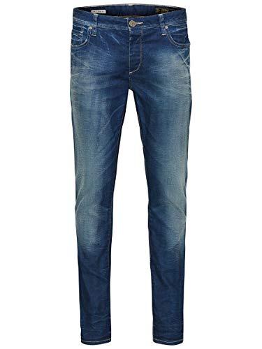 JACK & JONES Herren Slim/Straight Fit Jeans Tim Original JOS 919 3332Medium Blue Denim