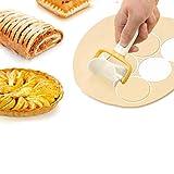 Fendysey Creador de Galletas Herramienta de decoración de Pasteles Redonda antioxidante Herramientas de Bricolaje Herramientas de decoración de Bricolaje(3-Piece Set)