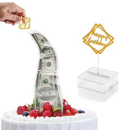 Cake Money Box, Money Pulling Cake Making Mold, Food Contact Safe,4.3X4.3X2.8 inch