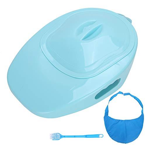 Bettpfanne für Frauen Männer Bettlägerige ältere Patientin Bettpfanne Pflege Urinal Home Bettpfanne 1580ML Blau