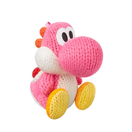 Pink Yarn Yoshi Amiibo (Yoshis Woolly World Series)