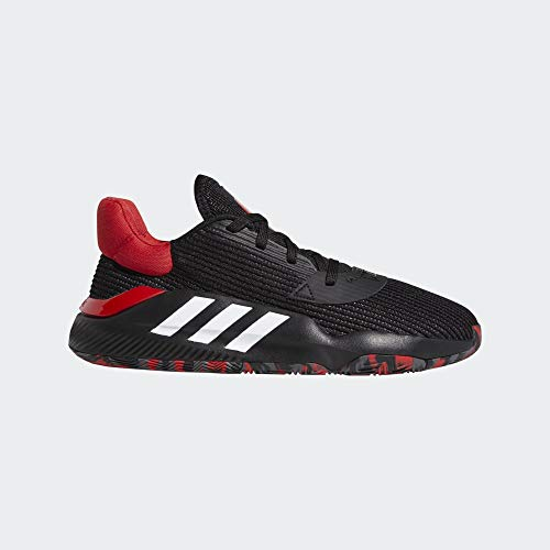Adidas Pro Bounce 2019 Low, Zapatillas de Baloncesto Hombre, Negbás/Escarl/Gricin 000, 53 1/3 EU