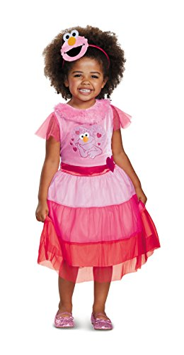 Elmo Dress Classic Costume, Pink, Small (2T)