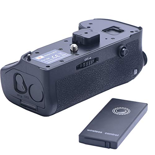 DSTE Replacement for Pro Wireless Remote Control DMW-BGG9 DMW-BGG9GK Vertical Battery Grip Compatible Panasonic Lumix G9 Digital Camera as DMW-BLF19