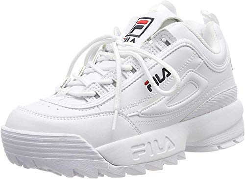 Fila Damen Disruptor Low wmn Sneaker, White, 41 EU