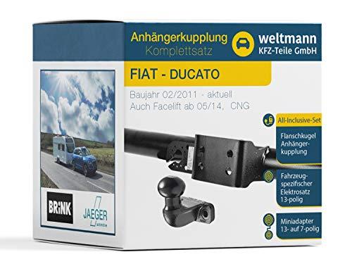 Weltmann 7D500393 - Juego completo de bola de brida de 2 agujeros y juego eléctrico de 13 polos para Fiat Ducato