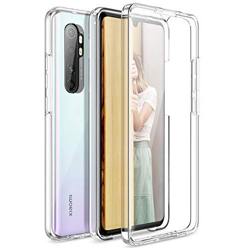 CE-Link per Cover Xiaomi Mi Note 10 Lite Custodia 360 Gradi Full Body Rigida Protettiva Protezione per Schermo Silicone TPU Ai Graffi Antiurto Protezione Posteriore Trasparente Case