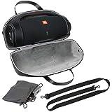 co2CREA case Hart reiseschutzhülle Tasche mit Mini Zubehörtasche & Schultergurt Für JBL Boombox 2 Bluetooth Lautsprecher (Hülle+Zubehörtasche+Schultergurt)