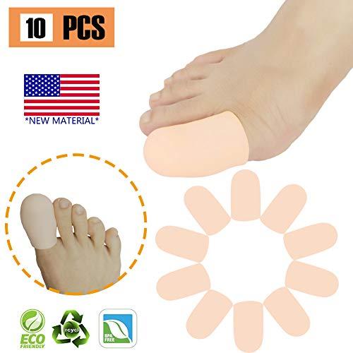Gel Toe Caps Protectores para los dedos del pie Manguitos para los pies Tubos * NUEVO MATERIAL * para ampollas, callos, dedos de martillo, alivio del dolor y más. (Piel, L)