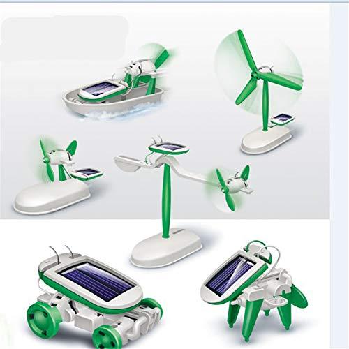 QOR Balance Education 6 in 1 Power Solar Robot DIY Kit for Children Learning Technology Science...