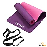 Trabee Yoga Mat - Eco Friendly TPE Material, Reversible and Non Slip Excercise