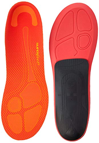 Superfeet RUN Pain Relief Insoles, Customizable Heel Stability Professional-Grade Orthotic Insert for Maximum Support, Tangerine, F: 12+ US Womens / 11.5-13 US Mens
