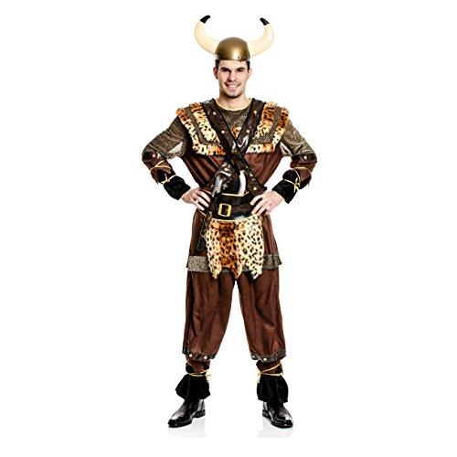 Kostümplanet® Wikinger-Kostüm Herren Größe 48/50