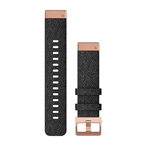 Heathered Black Nylon – Quick Fit – Fenix 6S – 20 mm – Fenix 5S/5s Plus