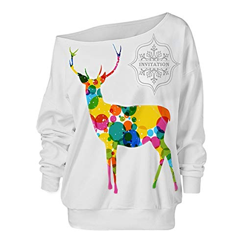 DENGZI Damen Weihnachtspullover Sexy Hemd Hoodie Langarm Sweatshirts Kapuzenpullover...