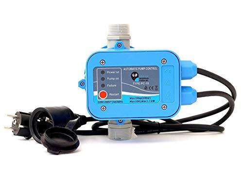 SK Aqua Line Elektronische Pumpensteuerung PC-10 Druckschalter Druckwächter für Gartenpumpen Hauswasserwerk (TÜV). Sorgt für konstanten Druck, überwacht den Wasserdurchfluss inkl. Trockenlaufschutz.