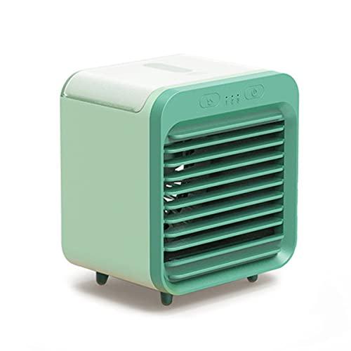 Aire Acondicionado De Escritorio, Mini Enfriador De Aire Evaporativo Ventilador De Nebulización Con 3 Velocidades De Viento Ventilador De Refrigeración Portátil Para El Hogar Y La Oficina,Verde