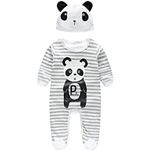 KaloryWee Newborn Romper Baby Boy Girl Unisex Clothes Sets Bear Tiger Lion Cow Animal Rompers with Hat Long Sleeve Bodysuit Jumpsuits Outfit Set:Warezcrack