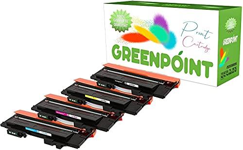 Greenpoint 4 tóneres compatibles con Samsung Xpress C480W C430W FW FN impresora láser a color CLT-P404C/ELS – Negro y Color (C, Y, M)