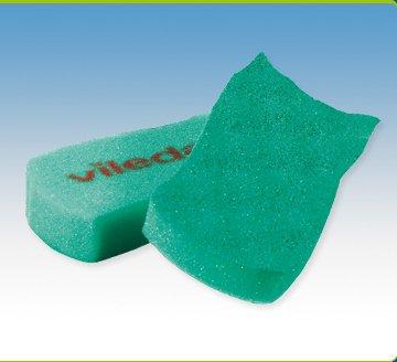 Vileda-Spugna alla schiuma attiva, confezione da 2 pezzi (070257-Spugna per pulizia, confezione da 12