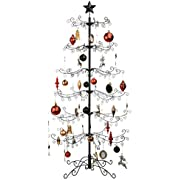 Best Choice Products 6ft Wrought Iron Ornament Display Christmas Tree w/Easy Assembly and Stand - Black