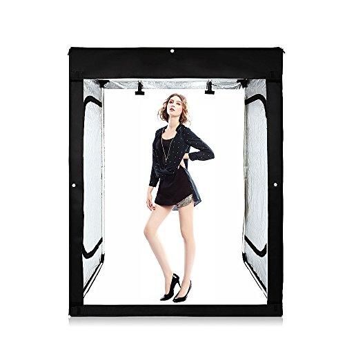Konseen 120x100x200cm 超大型 撮影ボックス 撮影キット 無段階調光 768PCS LEDライト付き 人物 洋服 肖像画 アダルトモデル撮影 撮影ブース 簡易スタジオボックス
