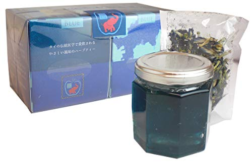 青い森の天然青色アンチャンブルーティーと青いりんごジャム 各1個 【送料込】青いお茶 青いジャム