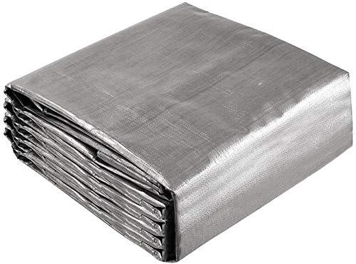 Cubre Objeto Protección Muebles de Patio 5x6m Lona de Polietileno Resistente Lona PE Lona de Camping Protector Impermeable Muebles de Exterior Protección para la mayoría de los Muebles, gris, 5x6m