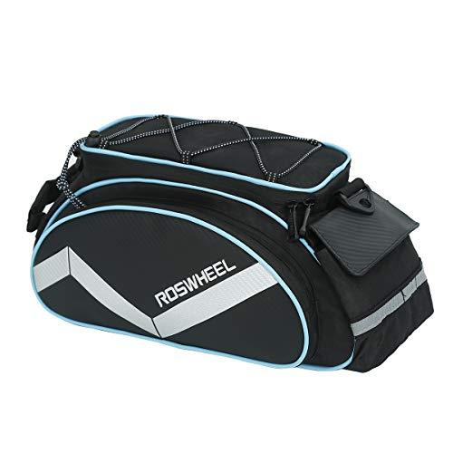 LOCAL LION Gepäckträgertasche für Fahrrad wasserdichte Fahrradtaschen für Gepäckträger Mountainbike schwarz blau