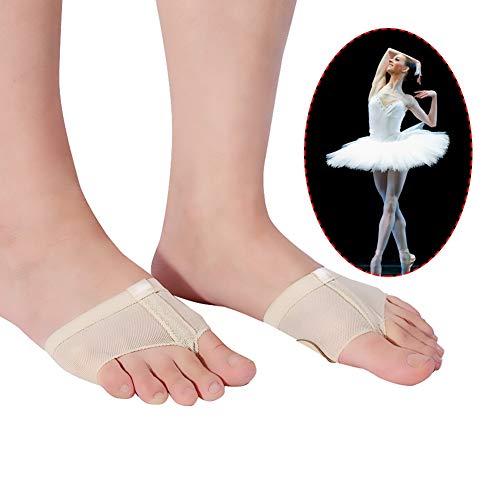 TMISHION Tongs, Jambes de Danse Classique Couvrent Le Bout des Pieds Bas de Pratique de Danse du Ventre en Microfibre Baskets Basses Devant Protective Sleeve(M)