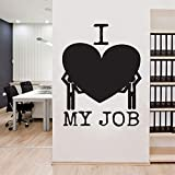 zqyjhkou Citations I Love My Job Decal Motivation Bureau Mur Vinyle Autocollant Inspirer Bureau Décoration Papier Peint Étanche33x42cm