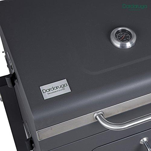 DARDARUGA BBQ Barbecue griglia XXL Superficie griglia Grill a Carbone carbonella con affumicatore