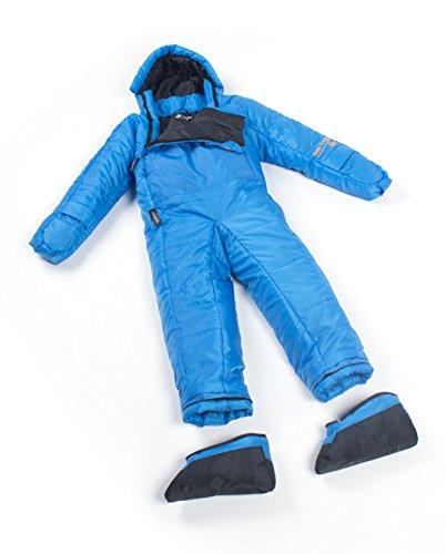 Selk'Bag Kids 5G Schlafsack mit Armen und Beinen M Blue Fun