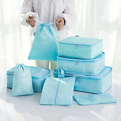 Wmeat-P Bolsas de almacenamiento de viaje para ropa, organizador de equipaje de viaje, bolsas esenciales de viaje duraderas, para ropa, zapatos cosméticos