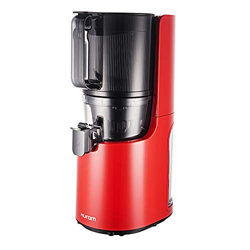 Hurom H200 - Extractor de zumo vertical, color rojo