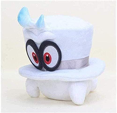 NC56 Peluche 20-22cm Super Mario Peluche Super Mario Hat Cap Head Party Hat Soft Stuffed Animal Dolls