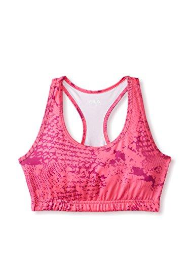 FILA Damen BH Top, Damen, Pink Glo/Concord Grape Reptilien Druck, X-Large