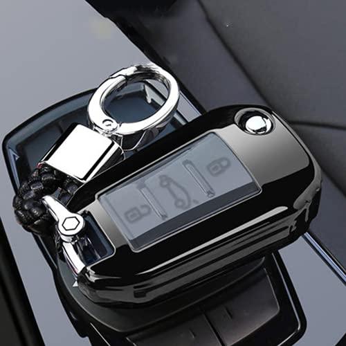GCAWYYQG Funda de TPU para llave de coche, plegable, para Citroen C4 CACTUS C5 C3 C4L C6, para Peugeot 508 301 2008 3008 308