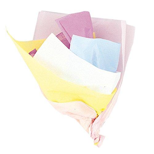 Unique Party-Paquete de 10 hojas de papel de seda, surtido colores pastel, (6299)