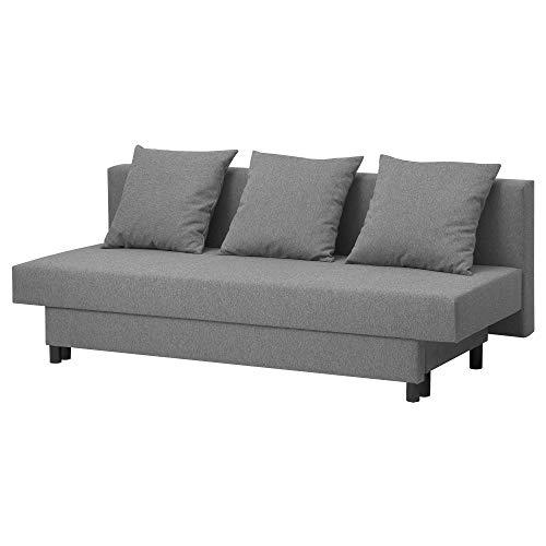 Sofá cama de tres plazas ASARUM 191x84x73 cm gris