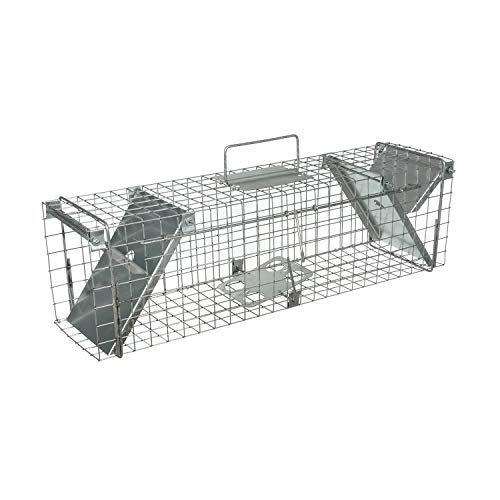 Lars Beger Trampas para Ratas Grandes, Ratones, Conejos y Gatos – Trampa para Ratones y Ratas - Ratonera - Trampa para Ratones Vivos - Cepos para Ratas - 65x17x20 cm
