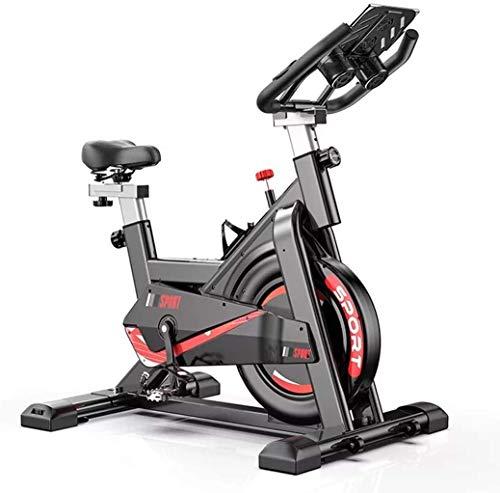 Lloow Bicicleta de Ejercicio Vertical, ciclos de Estudio Interior con Tiempo de Ejercicio, Velocidad, calorías, Distancia, Sistema de accionamiento de Correa de bajo Ruido Bicicleta giratoria