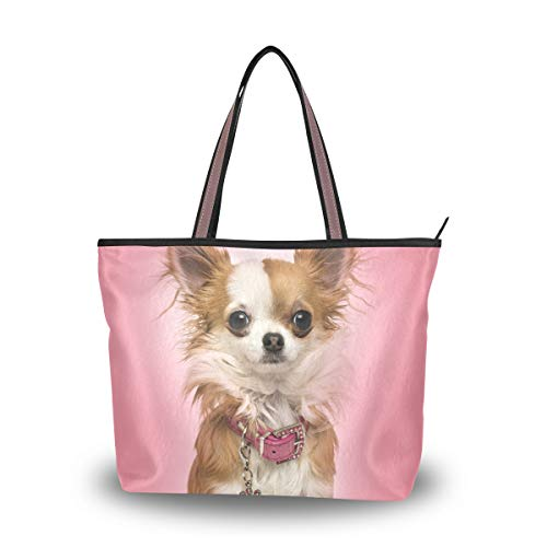 My Daily Damen Schultertasche Chihuahua Hund Handtasche, (multi), Medium