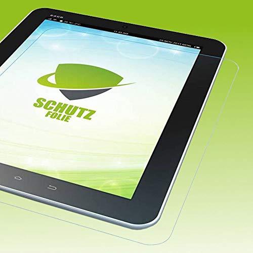 Wigento Bildschirmschutzfolie Folie für Samsung Galaxy Tab A7 T500 / T505 2020 LCD Zubehör + Poliertuch Screen Protector