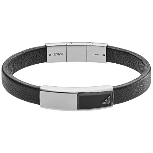 Emporio Armani Herren- Armband EGS2288040, Schwarz